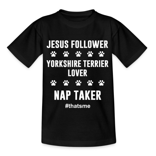 Jesus follower yorkshire terrier lover nap taker - Kids' T-Shirt