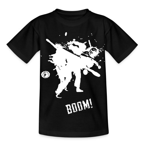 bkc boom on black - Kids' T-Shirt