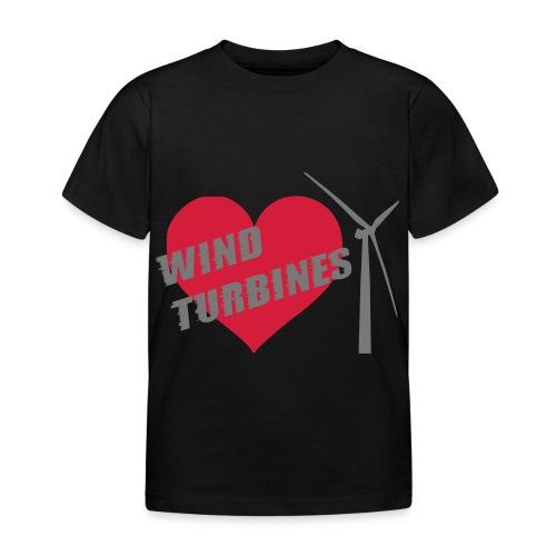 wind turbine grey - Kids' T-Shirt