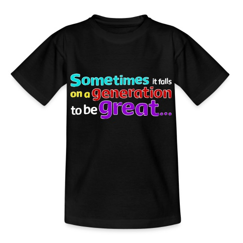Great Generation quote by Nelson Mandela T-shirt - Kids' T-Shirt