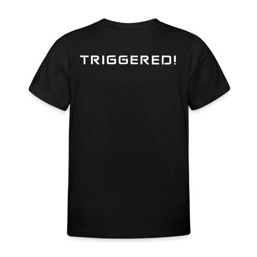 White Negant logo + TRIGGERED! - Børne-T-shirt