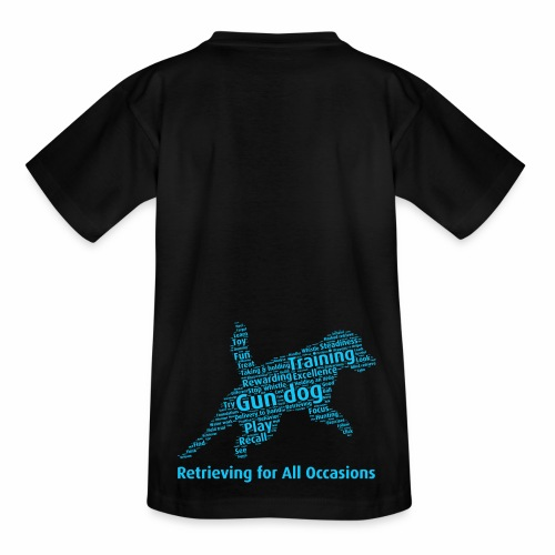 Retrieving for All Occasions wordcloud blått - T-shirt barn