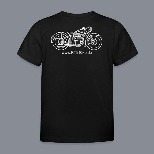 Motorrad_CS2_weiss + URL - Kinder T-Shirt