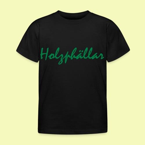 Schriftzug Grün - Kinder T-Shirt