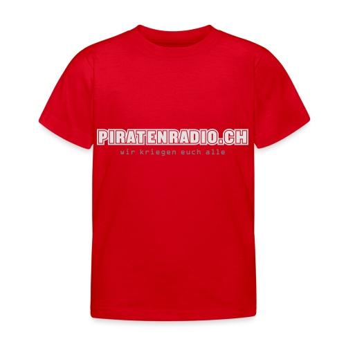 logo piratenradio claim 25cm neg - Kinder T-Shirt