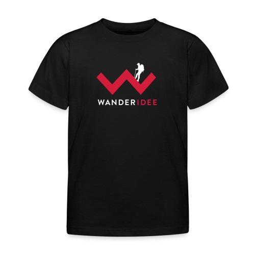 wanderidee_Logo_negativ_S - Kinder T-Shirt