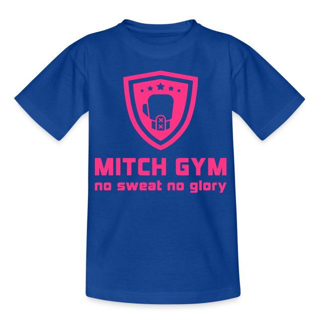 mitch gym pink logo