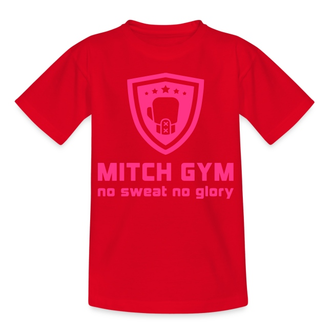 mitch gym pink logo