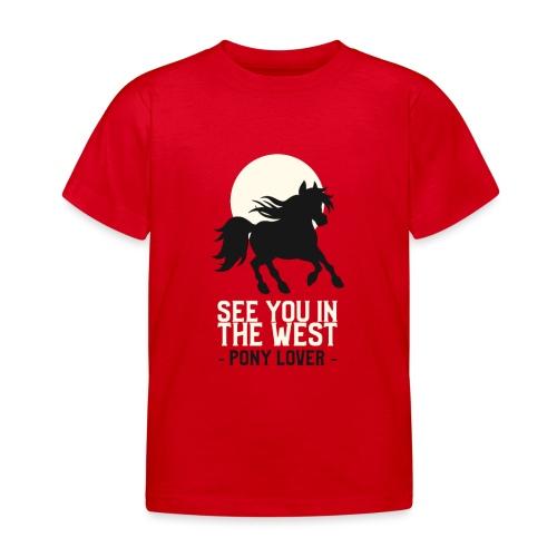 Silhouet pony design voor ponyliefhebbers - Kinderen T-shirt