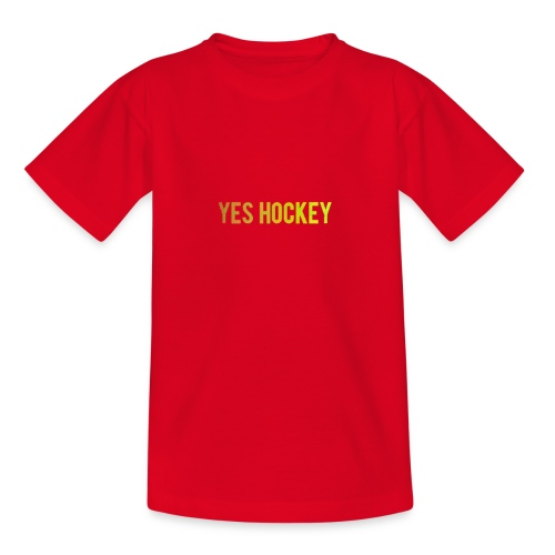Yes Hockey Logo- Orange - Kids' T-Shirt