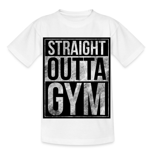 Fitness design - Straight Outta Gym - Kids' T-Shirt