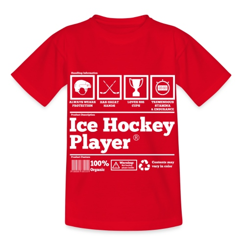 Ice Hockey Player Present Funny Hilarious - Kinder T-Shirt