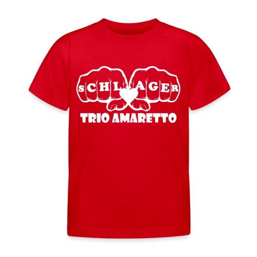 White Print Trio Amaretto - Kinder T-Shirt