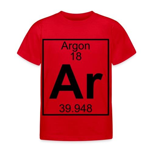 Argon (Ar) (element 18) - Kids' T-Shirt