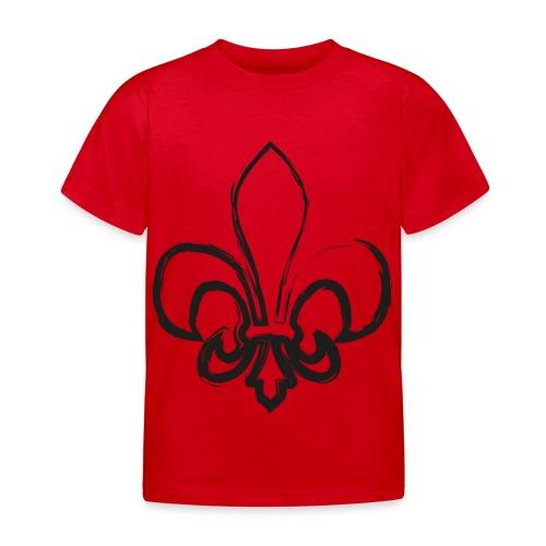 Pinselzeichnung Lilie – Schwarz - Kinder T-Shirt