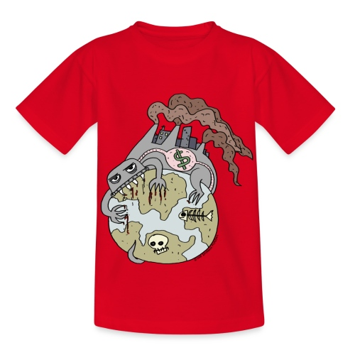 Consuming Ourselves to Death - Kids' T-Shirt