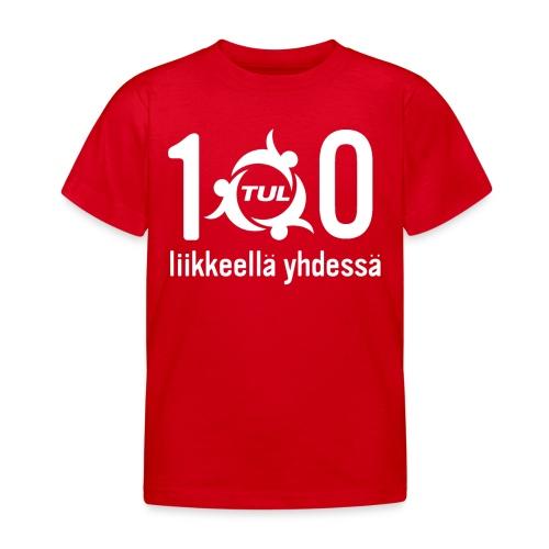 TUL100-tuotteet, valkoinen logopainatus - Lasten t-paita