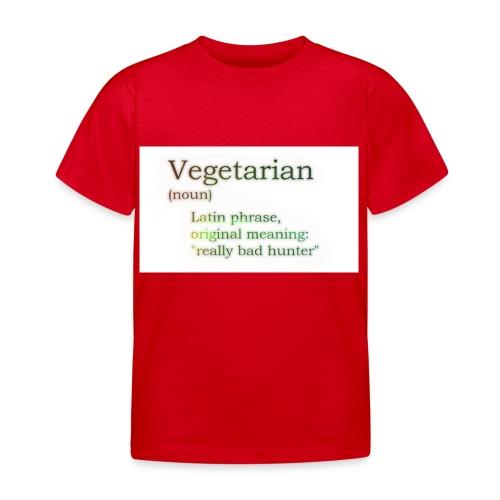 funny-vegetarian - Kids' T-Shirt
