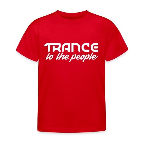 Trance to the People Hvidt Logo - Børne-T-shirt