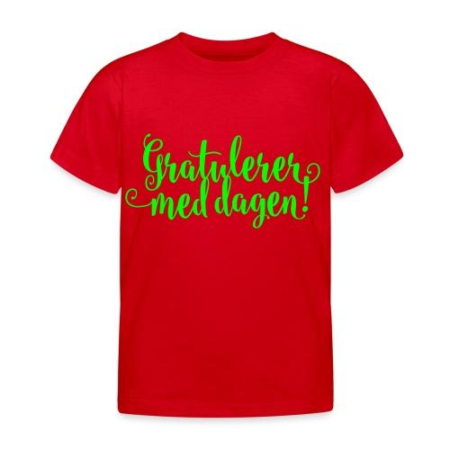 Gratulerer med dagen! - plagget.no - T-skjorte for barn