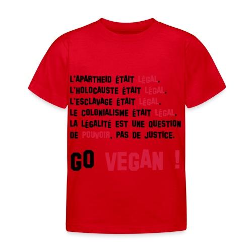 GO VEGAN - T-shirt Enfant