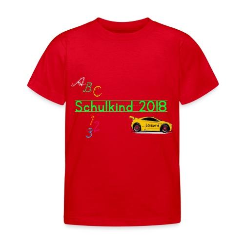Schulkind ABC Auto Lennard - Kinder T-Shirt