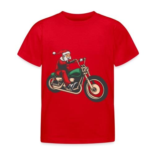Cool Winter Christmas Santa Motor Biker - Kids' T-Shirt