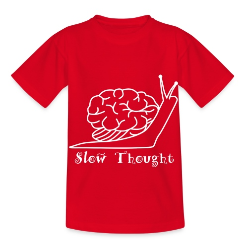 SlowThought (weiß) - Kinder T-Shirt