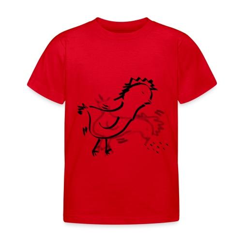 Das pickende Huhn - Kinder T-Shirt