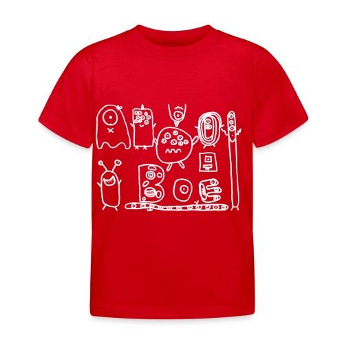 monsters-wit - Kinderen T-shirt