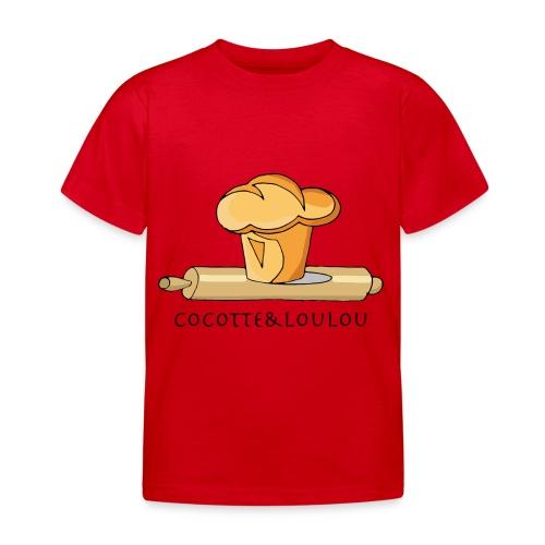 Brioche française et rouleau à patisserie - T-shirt Enfant