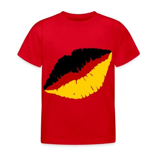 Deutschland Lippen Motiv - Kinder T-Shirt
