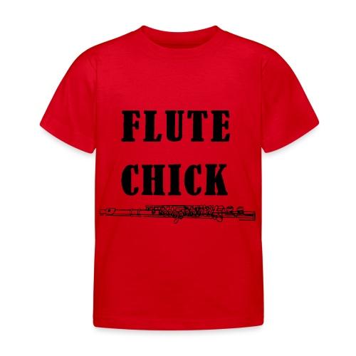 Flute Chick - Kids' T-Shirt