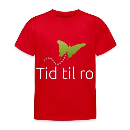 Tid til ro - Børne-T-shirt