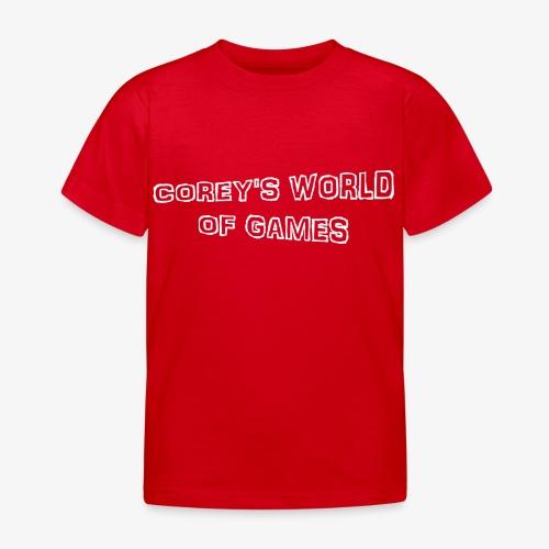 Coreys World Of Games - Kids' T-Shirt