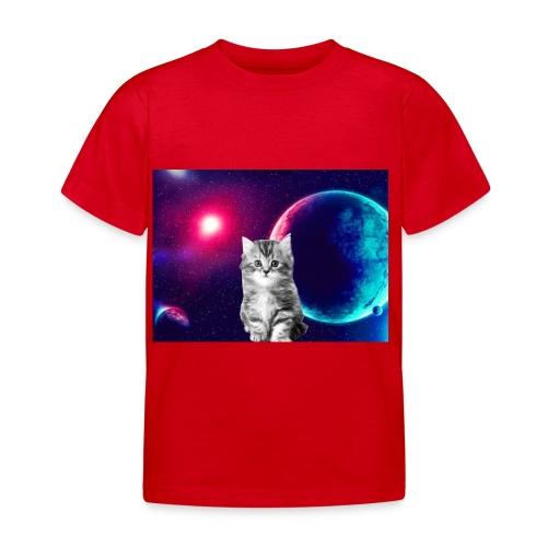 Cute cat in space - Lasten t-paita