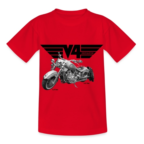V4 Motorcycles black Wings - Kinder T-Shirt