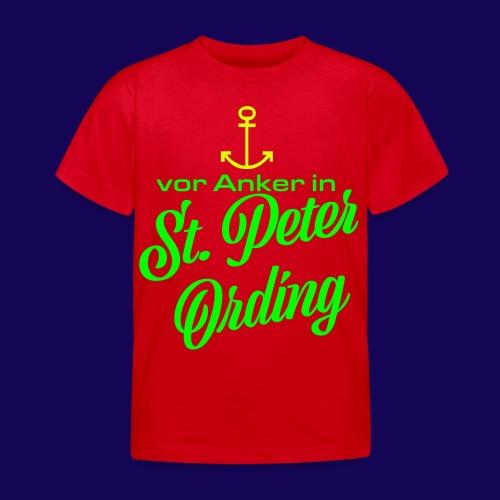 Vor Anker in St. Peter-Ording: Das maritimes Motiv - Kinder T-Shirt