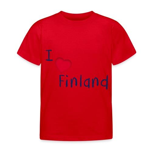 I Love Finland - Lasten t-paita