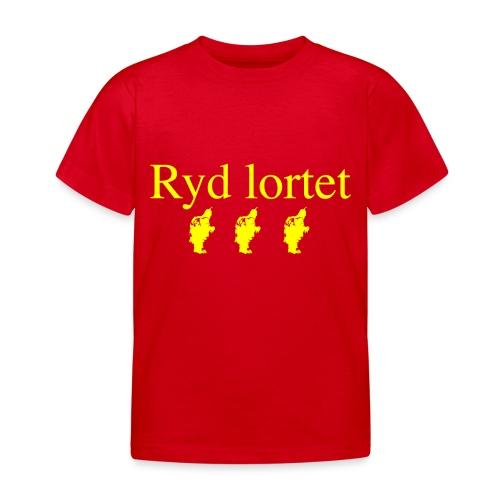 Ryd lortet - Børnekollektion - Børne-T-shirt