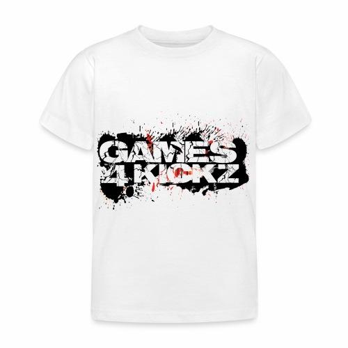Games4Kickz Logo Splattered Background - Kids' T-Shirt