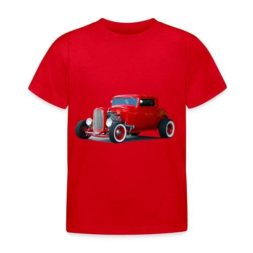 Hot rod red car - Kinderen T-shirt