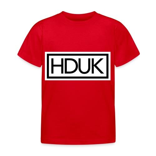 HDUK Black Logo with Border - Kids' T-Shirt