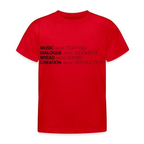 slogan png - Kinderen T-shirt