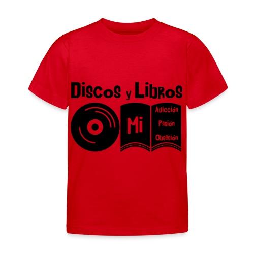 Discos y Libros - Camiseta niño
