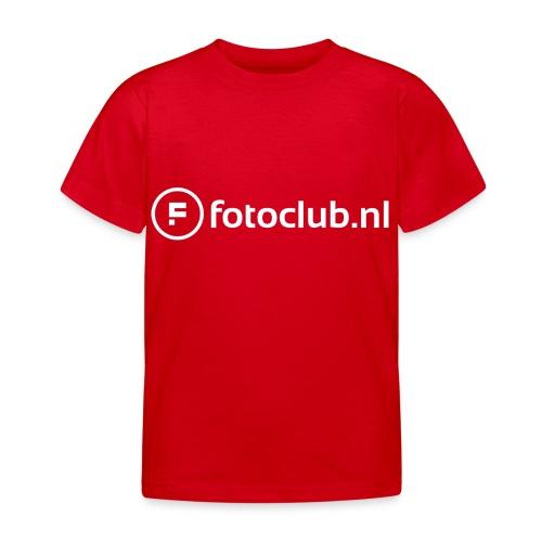 Logo Wit Fotoclublnl - Kinderen T-shirt