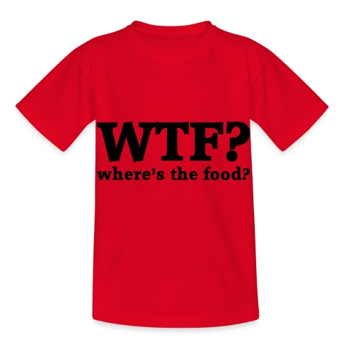 WTF - Where's the food? - Kinderen T-shirt