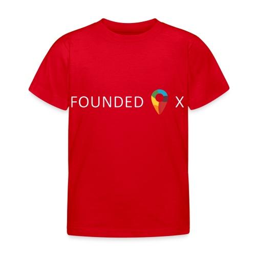 FoundedX logo white png - Kids' T-Shirt