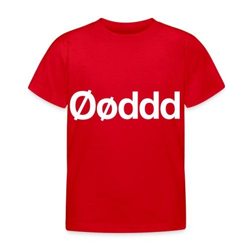 Øøddd (hvid skrift) - Børne-T-shirt