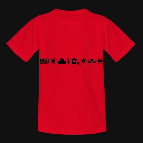 Weissabgleich Symbole Horizontal - Kinder T-Shirt